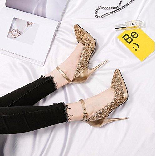 colore tacco con alto GTVERNH sexy col donna punta belle impermeabile 11cm tutto trentaquattro buonanotte scarpe una a corrisponde scarpe rqPIUq