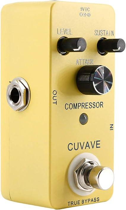 Longyitrade Compresor pedal efecto guitarra casquillo bypass real ...