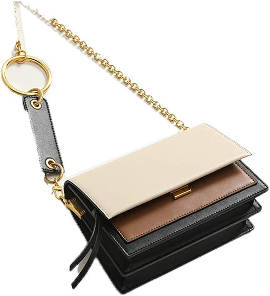 Bolso de hombro para mujer, bolso cadena femenina bolso cuadrado pequeño bolso de cuero colgante marea femenina
