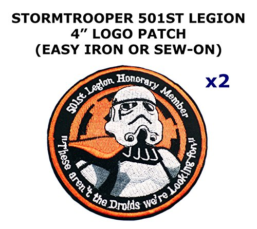 Costume Star Wars Stormtrooper Diy (2 PCS Stormtrooper 501st Legion Star Wars Theme DIY Iron / Sew-on Decorative Applique)
