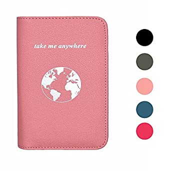Phone Charging Passport Holder Travel Case w/ Power Bank-iPhone, Galaxy...