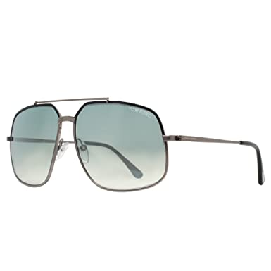 a56a723bdecb Amazon.com  Tom Ford TF439 Ronnie 01Q Mens Gunmetal Black 60 mm ...