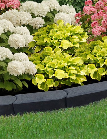 Stomp Edge, Set of 6 (Rubber Recycled Mulch Border)