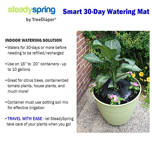 SteadySpring Smart 30-Day Watering Mat for Tomato Plants, Peppers, Veggies, Perennials, Annuals - Self-Fills with Rain (4) by Smart Spring (Image #5)