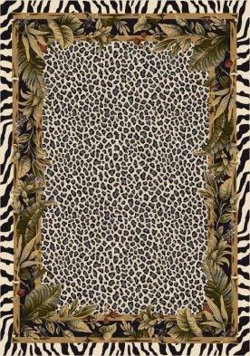 Milliken Jungle Safari 5 x 8 Oval Snow Leopard Area Rug
