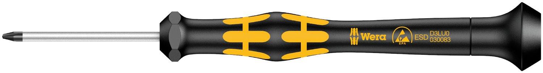 Wera 05030082001 1572 ESD Kraftform Micro Schraubendreher f/ür Microstix-Schrauben F x 40 mm