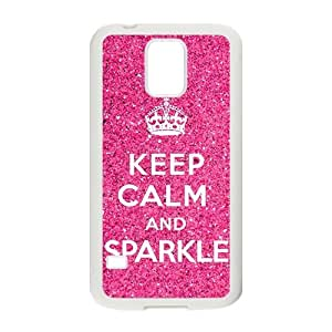 Pink simple motto design Cell Phone Case for Samsung Galaxy S5