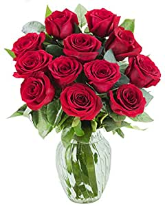 amazon com kabloom the romantic classic red rose bouquet of 12
