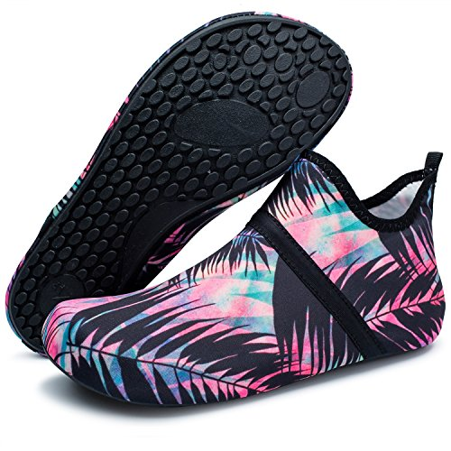 Barerun Women and Men Quick-Dry Barefoot Water Shoes for Beach Pool Surf Swim Yoga Blue 8.5-9.5 US Women 7-7.5 US Men