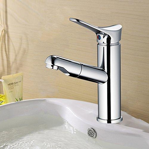 Hlluya Wasserhahn für Waschbecken Küche Pfeil Pfeil Pfeil Pfeil Waschtischmischer Einloch Pull-down Abwaschbarer Epilieraufsatz Waschtisch Waschtischmischer Rotation und kalten Wasserhahn A4106 A4106 b91bc8