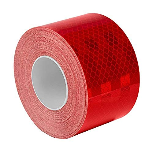 3M 983-326 2 X 12-10 963-326 Prismatic Conspicuity Markings 12 Length Pack of 10 Red//White 2 Wide