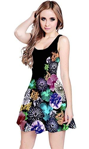 CowCow - Vestido - para mujer Black and Neon