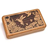 Double Deck Card Box With Dice - Hummingbird