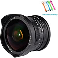 7artisans 7.5mm F2.8 APS-C Wide Angle Fisheye Fixed Lens For Fujifilm Cameras X-A1,X-A10,X-A2,X-A3,X-AT,X-M1,XM2 ,X-T1, X-T10, X-T2, X-T20 ,X-Pro1 ,X-Pro2 ,X-E1 ,X-E2 -Black (7.5mm F2.8 Fuji)