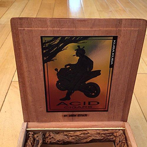 Cedar Acid Kuba Kuba Wooden Cigar Box By Drew Estate with Insert Empty Dovetail