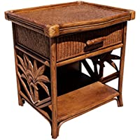 Hospitality Rattan 401-5301-TCA Cancun Palm One Drawer Nightstand