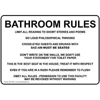 Amazon Com Bathroom Etiquette X Poster Office Products