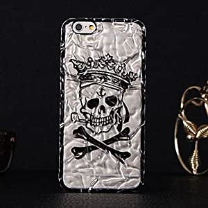 ZL Tinfoil Skull Style PC Back Cover Case for iPhone 6 (Assorted Colors) , Silver