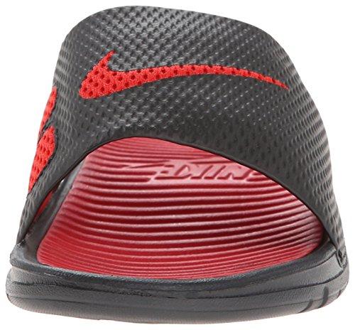 NIKE Mens Benassi Solarsoft Slide Sandal Black/Sport Red/Black/Sprt Red MT2dJgXp
