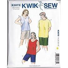 Kwik Sew K3072 Swimsuits Sewing Pattern, Skirt and Wrap by KWIK-SEW PATTERNS