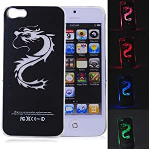 With Retail package Sense Flash Light LED LCD Color Change Hard Case Cover For iPhone 5 5S --- Color:With Package