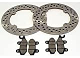 Front Brake Rotors and Brake Pads fits 2013 Can-Am Maverick 1000R 1000