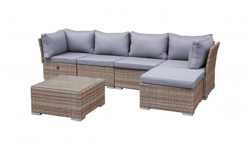 "Rattan-Lounge Gartenmöbel-Set ""Florenz"" 6-tlg. in Braun-Beige inkl ..."