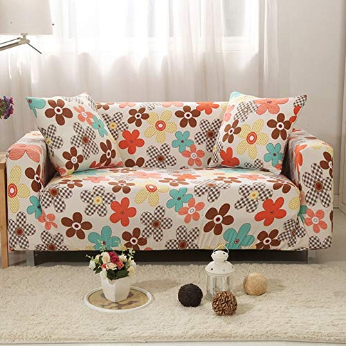 Farmerly Universal Stretch Sofa Slipcovers Furniture Covers for Sectional Couch Angular Sofa Armchair Cover Single Double Three Four Seat   18, 1 Seater