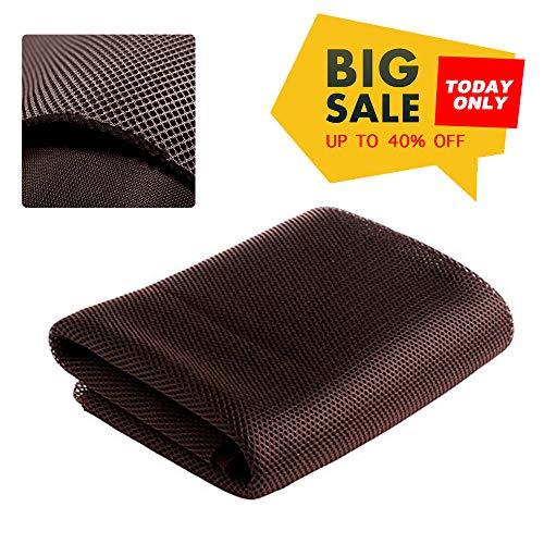 NOMACY Brown Speaker Grill Cloth Stereo Mesh Fabric for Speaker Repair - 140x50cm ...
