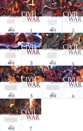 (Civil War 2006 Issues #1-7 Complete Comic Book Set)