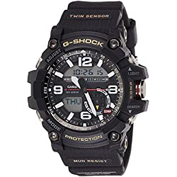 Casio G-Shock Mudmaster Twin Sensor Mens' Sports Watch (Black)