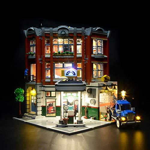 Briksmax Led Lighting Kit for Corner Garage- Compatible with Lego 10264 Building Blocks Model- Not Include The Lego Set (Lego 10211)