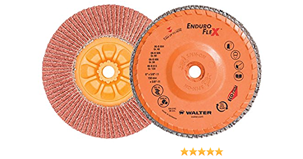 """Type 29 Box of 10 Osborn Flap Disc 4-1//2/"""" x 5//8-11/"""" EXT 40 Grit"""