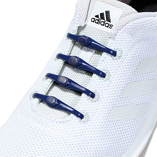 HICKIES 2.0 Performance One-Size Fits All No Tie Elastic Lacing System - Navy (14 HICKIES Shoelaces, Works in all shoes)