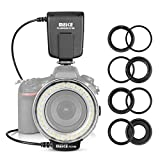 Meike FC100 Macro Ring Flash LED for Canon Nikon Pentax Olympus DSLR Camera Camcorder with Adapter Rings