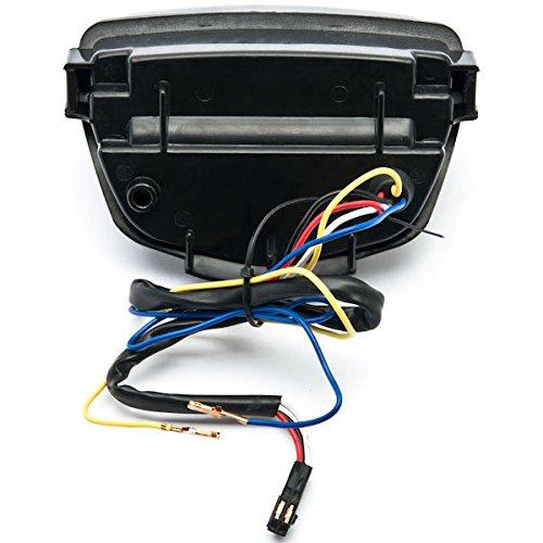 2012/Honda CBR 1000RR LED Feu arri/ère de frein de feux arri/ère avec indicateurs int/égr/és clignotants fum/ée pour moto Krator/® 2008