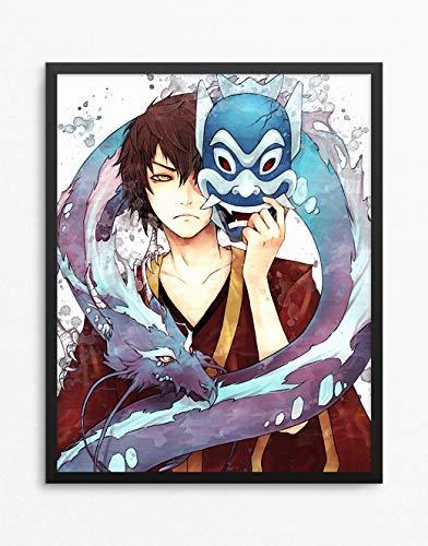 Avatar The Last Airbender Print, Avatar The Last Airbender Poster, Prince Zuko Anime Poster, Anime Print Watercolor N.003 (8 x 10 inch)