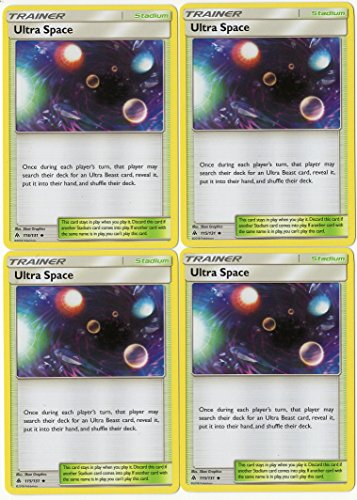 Ultra Space 115/131 - Sun Moon Forbidden Light - Trainer Card Set - x4 Stadium Card Lot (Playset)