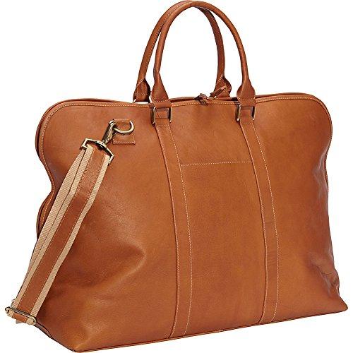 Clava Leather Weekender Satchel (Vachetta Tan)