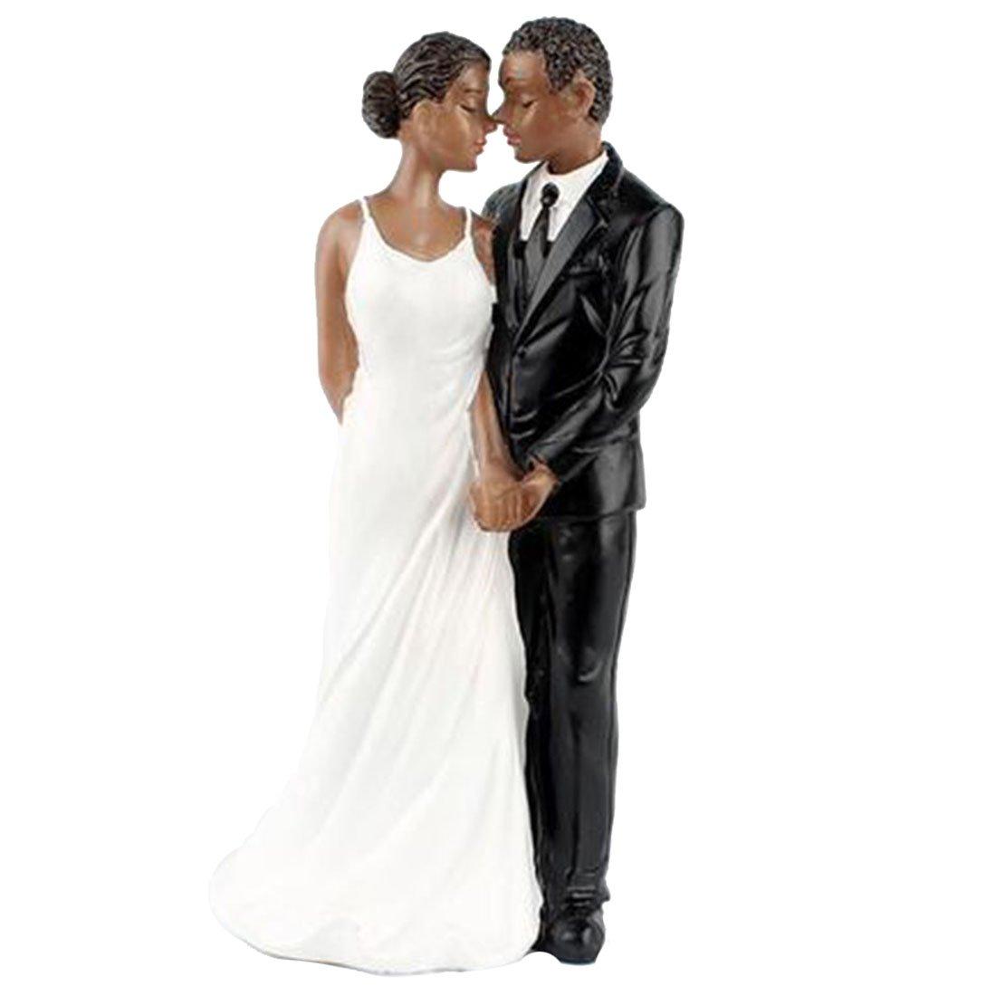 1e2dfc504e Amazon.com: Little Chair Resin Wedding Cake Topper African American ...