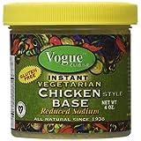 Vogue Cuisine Vegetarian Chicken Soup & Seasoning Base 4oz - Low Sodium & Gluten Free