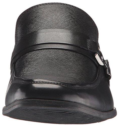 Steve Madden Mens Santer Slip-on Loafer Svart Läder