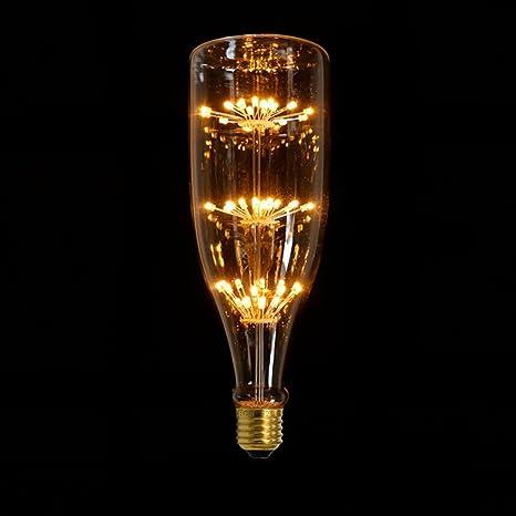 Bombilla LED de filamentos estilo Edison retro, casquillo E27, 220V, 3W, tono
