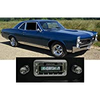 1967 GTO LeMans Tempest USA-630 II High Power 300 watt AM FM Car Stereo/Radio with AUX Input, USB Input, iPod Docking Cable. No modifications to original dash required.
