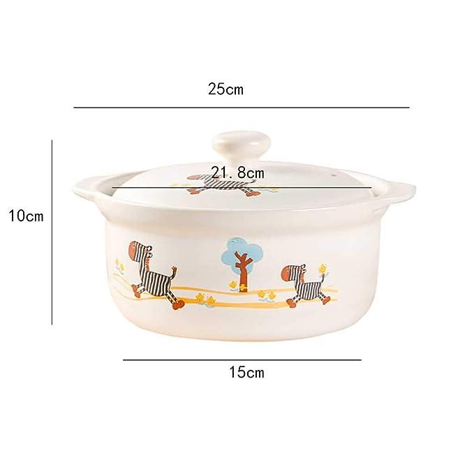 Olla LINGZHIGAN Cazuela Cocina Cerámica Esmalte Color Caricatura Arcilla Arroz Hogar Gas Caldo Caldo Sopa Avena A Alta Temperatura Sopa: Amazon.es: Hogar