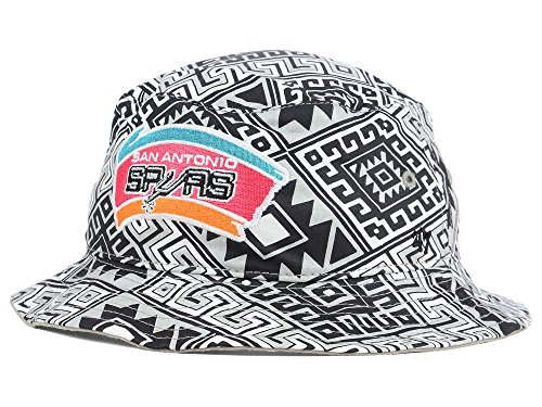 San Antonio Spurs HWC Hardwood Classics Emmer Bucket Hat Cap (L/XL)