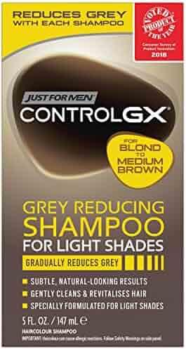 Just for Men Control Gx Grey Reducing Shampoo, Blonde & Medium Brown, 5 Ounce