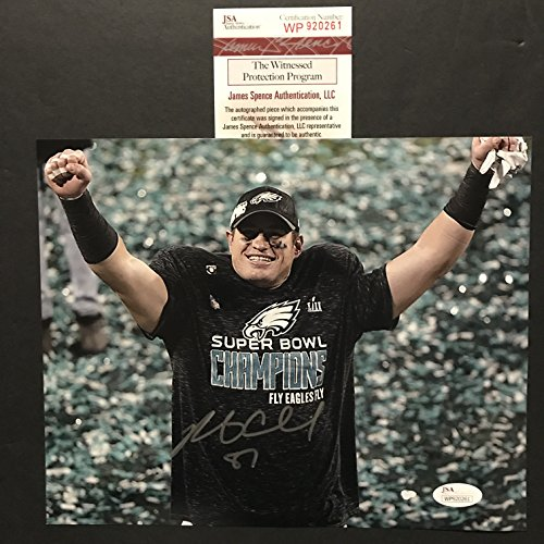 Autographed/Signed Brent Celek Philadelphia Eagles Super Bowl LII 52 Champions 8x10 Football Photo JSA COA