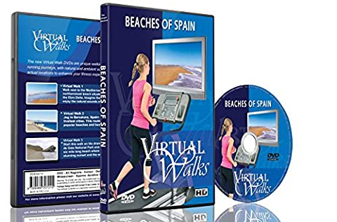 Virtual Walks - Beaches of Spain for indoor walking, treadmill and cycling workouts (Virtual Fitness Dvds)