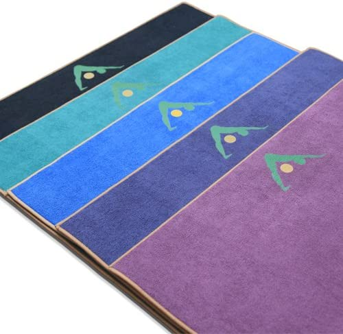 Aurorae Synergy 2 in 1 Yoga Mat; with Integrated Non Slip Microfiber Towel. Best for Hot, Ashtanga, Bikram and Active Yoga Where You Sweat and Slip; ...